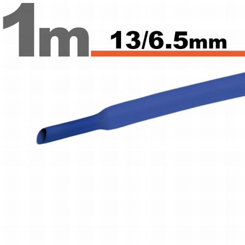 Termoskrčljiva cev - skrčka - modra - 13 / 6,5 mm