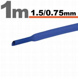 Termoskrčljiva cev - skrčka - modra - 1,5 / 0,75 mm