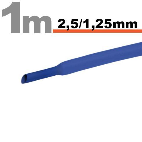 Termoskrčljiva cev - skrčka - modra - 2,5 / 1,25 mm