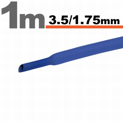 Termoskrčljiva cev - skrčka - modra - 3,5 / 1,75mm