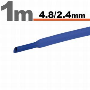 Termoskrčljiva cev - skrčka - modra - 4,8 / 2,4 mm