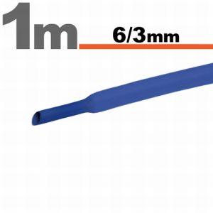 Termoskrčljiva cev - skrčka - modra - 6 / 3mm