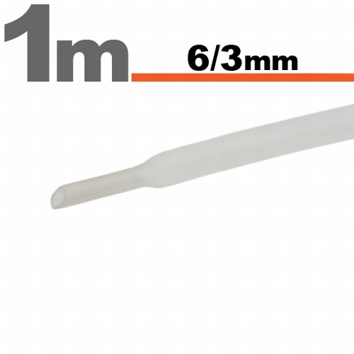 Termoskrčljiva cev - skrčka - prozorna - 6 / 3 mm