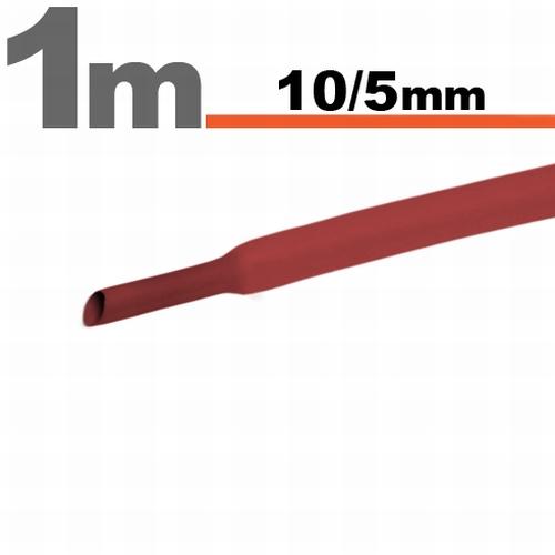 Termoskrčljiva cev - skrčka - rdeča - 10 / 5 mm