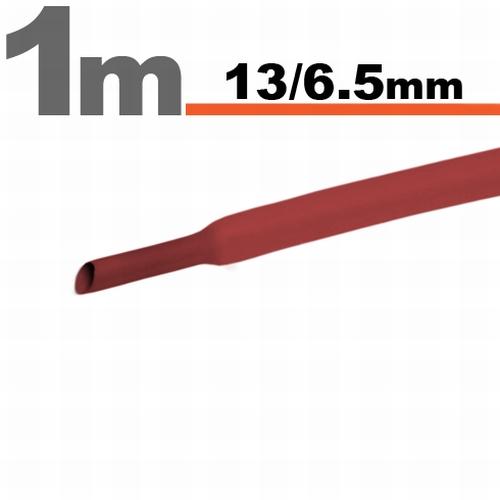Termoskrčljiva cev - skrčka - rdeča - 13 / 6,5 mm