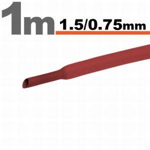 Termoskrčljiva cev - skrčka - rdeča - 1,5 / 0,75 mm