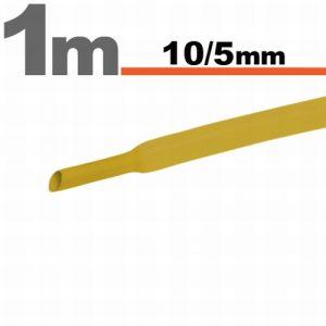 Termoskrčljiva cev - skrčka - rumena - 10 / 5 mm
