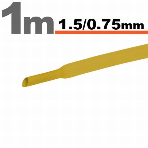 Termoskrčljiva cev - skrčka - rumena - 1,5 / 0,75 mm