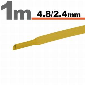 Termoskrčljiva cev - skrčka - rumena - 4,8 / 2,4 mm