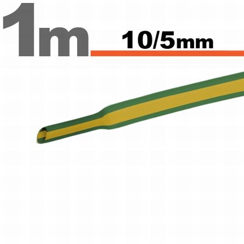 Termoskrčljiva cev - skrčka - rumeno / zelena - 10 / 5 mm