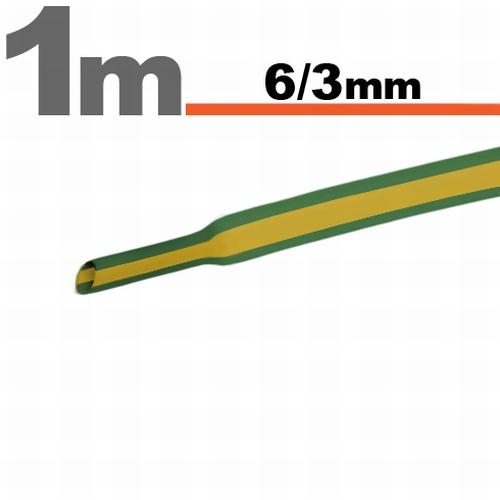 Termoskrčljiva cev - skrčka - rumeno / zelena - 6 / 3 mm