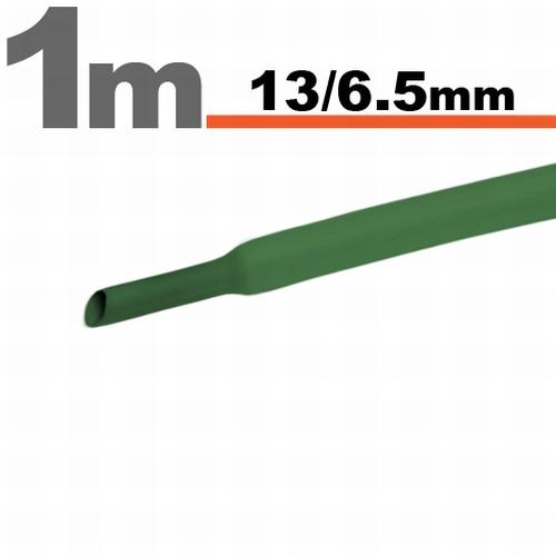Termoskrčljiva cev - skrčka - zelena - 13 / 6,5 mm