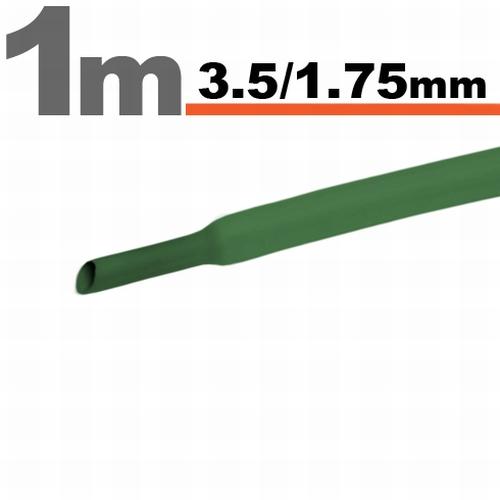 Termoskrčljiva cev - skrčka - zelena - 3,0 / 1,5 mm