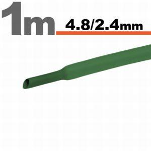 Termoskrčljiva cev - skrčka - zelena - 4,8 / 2,4 mm