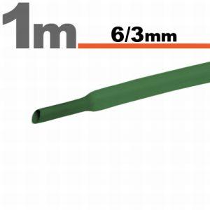 Termoskrčljiva cev - skrčka - zelena - 6 / 3 mm