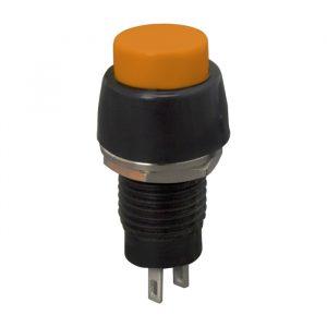 Tipkovno stikalo - 1 krog - 2 A - 250 V - OFF - (ON) - oranžno