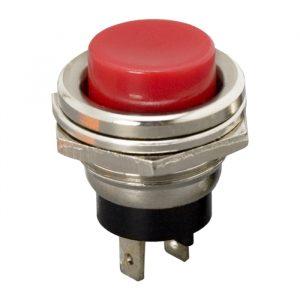 Tipkovno stikalo - 1 krog - 2 A - 250 V - OFF - (ON) - rdeče