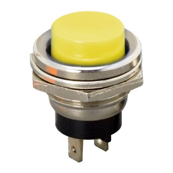 Tipkovno stikalo - 1 krog - 2 A - 250 V - OFF - (ON) - rumeno