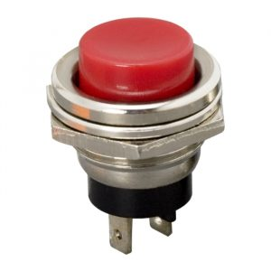 Tipkovno stikalo - 1 krog - 2 A - 250 V - ON - (OFF) - rdeče