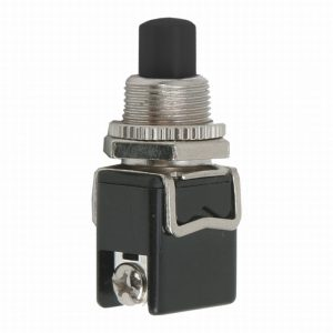 Tipkovno stikalo - 1 krog - 4 A - 250 V - OFF - (ON) - črno