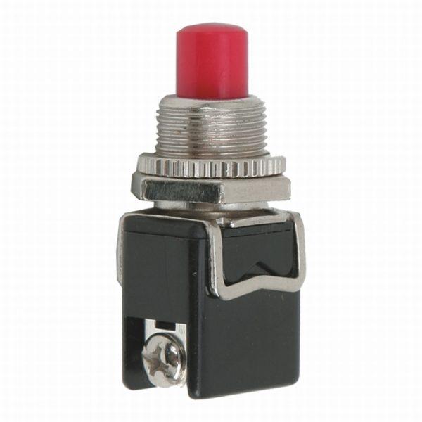 Tipkovno stikalo - 1 krog - 4 A - 250 V - OFF - (ON) - rdeče