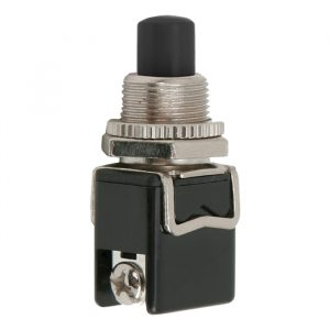 Tipkovno stikalo - 1 krog - 4 A - 250 V - ON - (OFF) - črno