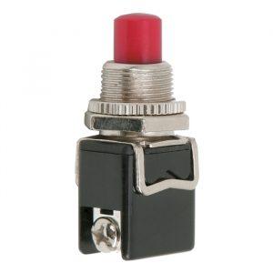 Tipkovno stikalo - 1 krog - 4 A - 250 V - ON - (OFF) - rdeče