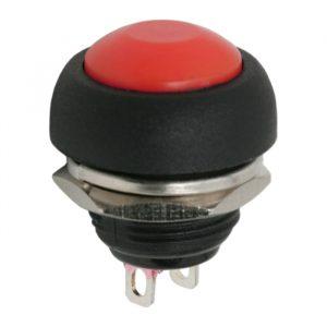 Tipkovno stikalo - 1 vezje - 1 A - 250 V - OFF - (ON) - rdeče