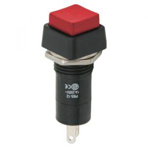 Tipkovno stikalo - 1 vezje - 1 A - 250 V - OFF - ON - rdeče