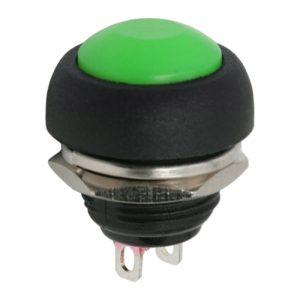 Tipkovno stikalo - 1 vezje - 1 A - 250 V - OFF - (ON) - zeleno