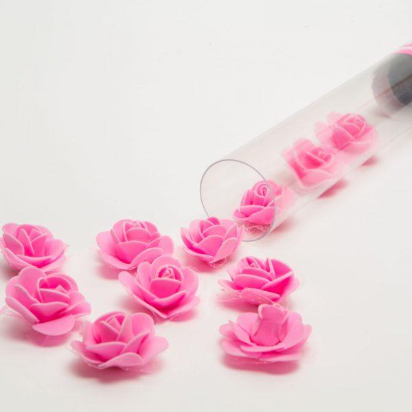 Top s konfeti v obliki vrtnic - pink - 40 cm