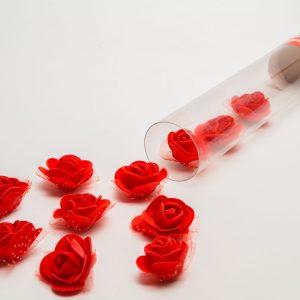 Top s konfeti v obliki vrtnic - rdeči - 40 cm