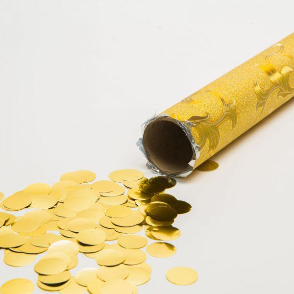 Top s konfeti - zlati - 40 cm