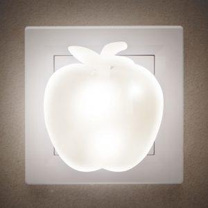 Toplo bela nočna LED lučka - jabolko - 230V
