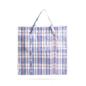 Tradicionalna velikanska nakupovalna torba - plastična - 50 x 50 x 12 cm