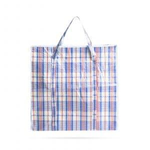 Tradicionalna velikanska nakupovalna torba - plastična - 68 x 64 x 26 cm