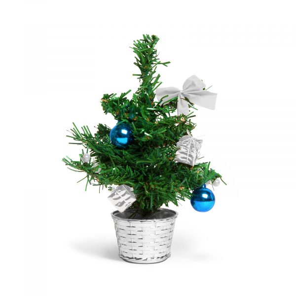 Umetno božično drevo - mini - srebrni okraski 30 cm