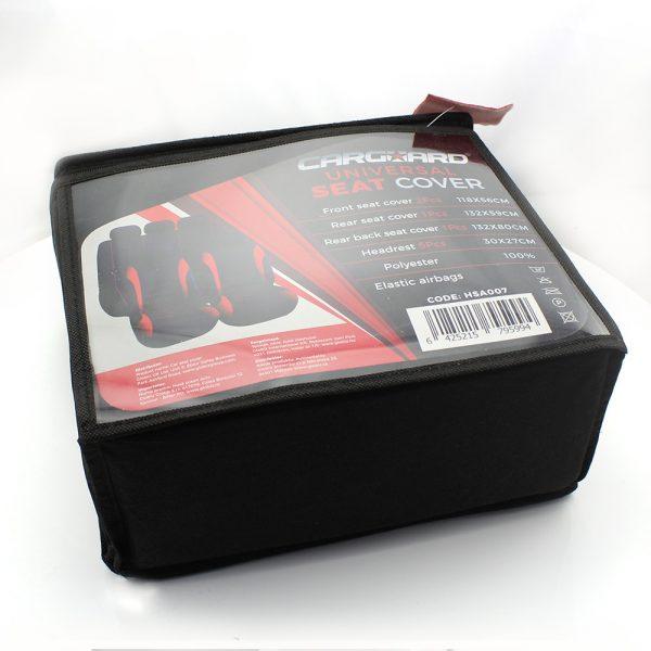 Univerzalne avtoprevleke - rdeča / črna - 9 kosov - HSA007