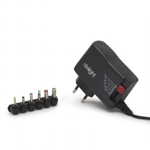 Univerzalni AC / DC adapter - 3-12V • 1,5A • 18W • 6 konektorjev