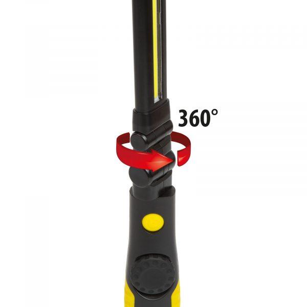 USB COB LED akumulatorska delovna svetilka 5W + 3W