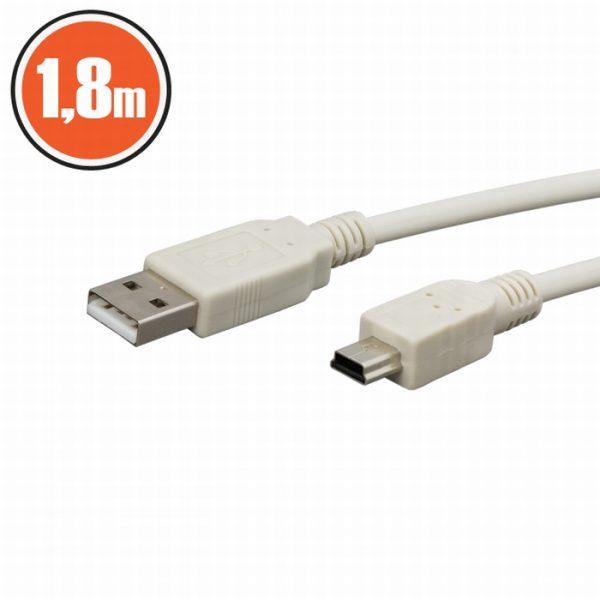 USB kabel 2.0 - Vtič - B vtič (mini) - 1,8 m