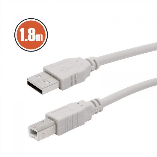 USB kabel 2.0 - Vtičnica B - 1,8 m