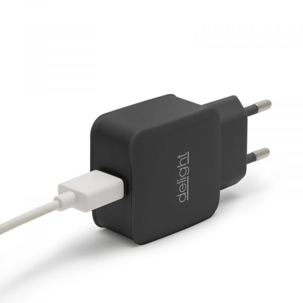 USB napajalnik - 1 x USB - črn