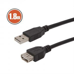 USB podaljšek 1,8m črn
