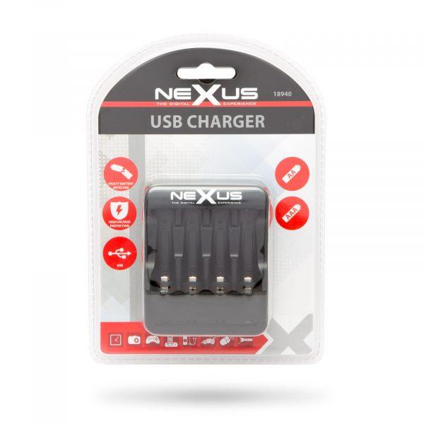 USB polnilec za NI-MH / CD polnilne baterije
