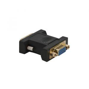VGA / DVI adapter - VGA vtičnica - DVI vtič - pozlačen