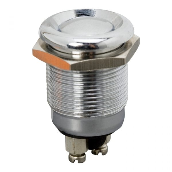 Vgradno stikalo - 1 vezje - 2A - 250V - OFF - (ON) - kovinsko • vodotesno