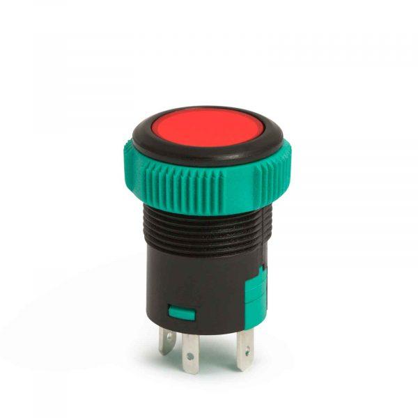 Vgradno stikalo - 20A - 12V - IP67 - OFF - (ON) - rdeča LED