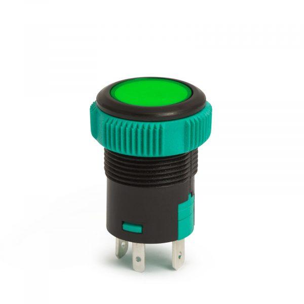Vgradno stikalo - 20A - 12V - IP67 - OFF - (ON) - zelena LED