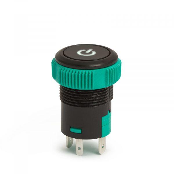 Vgradno stikalo - 20A - 12V - IP67 - ON - OFF - zelena / rdeča LED